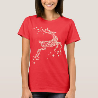 Reindeer made from Snowflakes Christmas Shirt