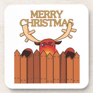 Reindeer Merry Christmas Coaster