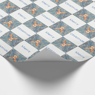 Reindeer Merry Christmas Holiday Wrapping Paper