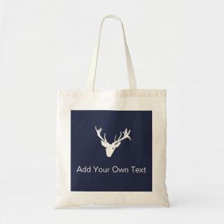 Reindeer Modern Graphic Design Christmas Tote Bag