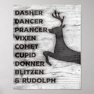 Reindeer Names Print