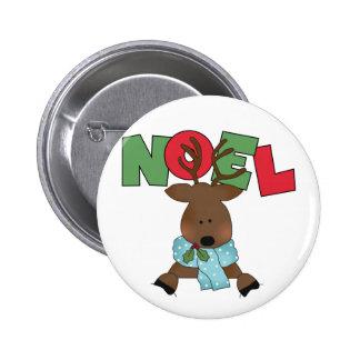 Reindeer Noel Tshirts and Gifts 6 Cm Round Badge