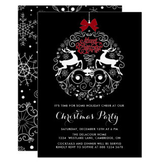 Reindeer Ornament | Christmas Party Invitation
