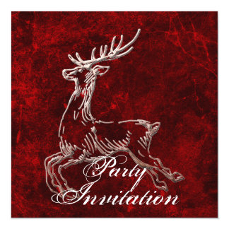 Reindeer Party Invitation