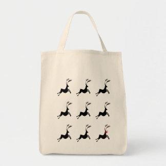 Reindeer Pattern Grocery Tote Grocery Tote Bag