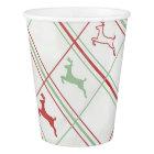 Reindeer Pattern Paper Cup