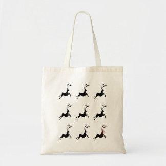Reindeer Pattern Tote Budget Tote Bag