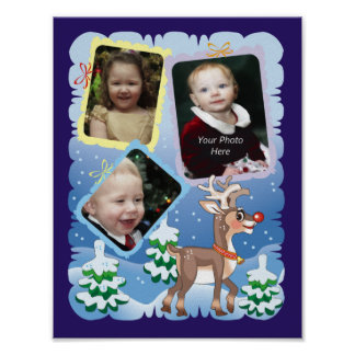 Reindeer Picture Page Poster