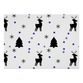 Reindeer Pine Forest Posters