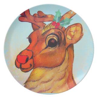 Reindeer Plate by Carol Zeock