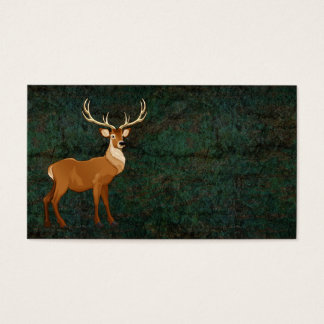 reindeer realistic business cards