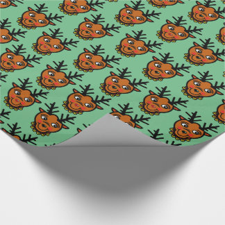 REINDEER RED by Slipperywindow Wrapping Paper