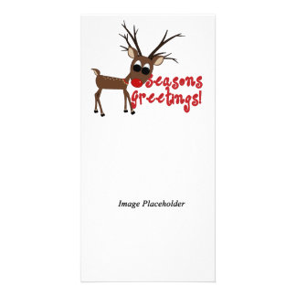 Reindeer Season's Greetings Photocard Photo Cards
