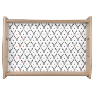 Reindeer! Serving Tray, Natural Serving Tray