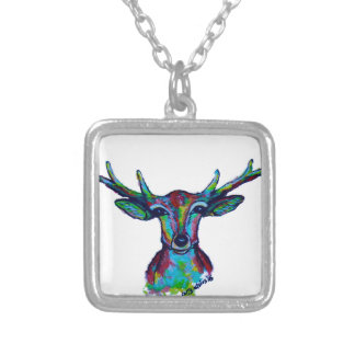 Reindeer Silver Plated Necklace