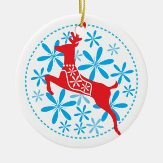 Reindeer Sky Holiday Ornament/Gift Tag