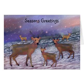 Reindeer Snowfall Holiday Card