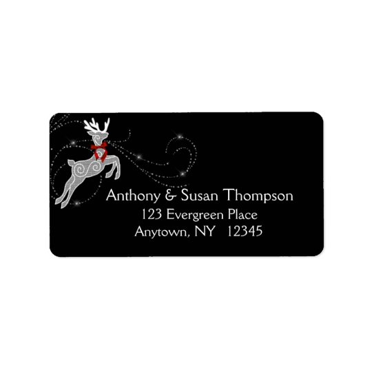 Reindeer Sparkle Address Label