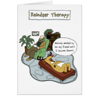 Reindeer Therapy Card