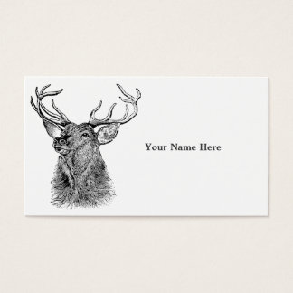 Reindeer Vintage Antler Business Card