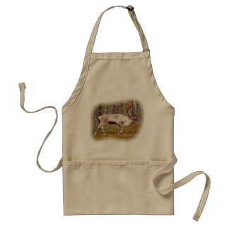Reindeer walking in forest standard apron