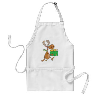 Reindeer With Christmas Gift Standard Apron