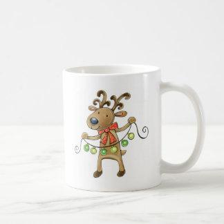 Reindeer with Christmas Lights Mug