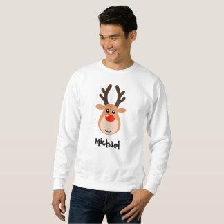 Reindeer with name Men's Sweatshirt