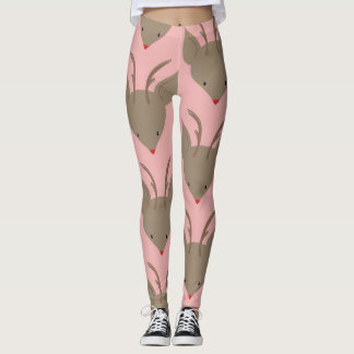 Reindeer with to pink nose leggings