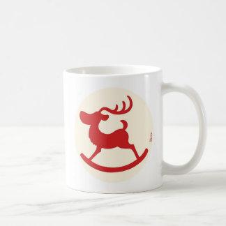 Reindeer wooden horse B Coffee Mug