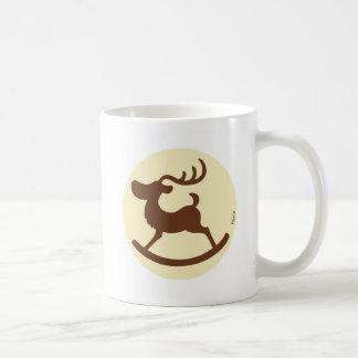 Reindeer wooden horse C Coffee Mugs