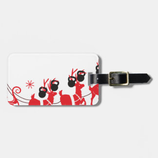 Reindeer Workout Luggage Tag