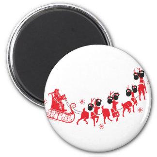 Reindeer Workout Magnet