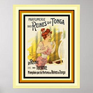 Reines Du Tonga Parfum French Ad Poster 16 x 20