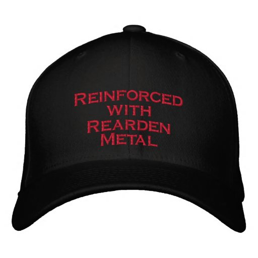 Reinforced with Rearden Metal Embroidered Baseball Caps