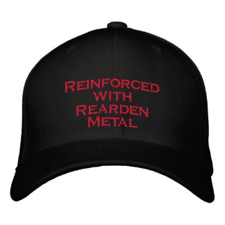 Reinforced with Rearden Metal Embroidered Hats