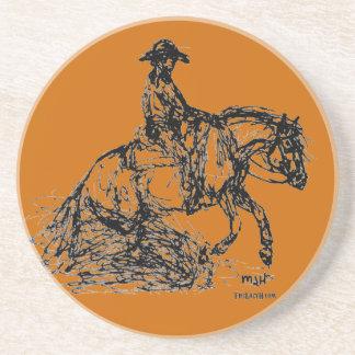 Reining Horse Simple Sketch Coaster