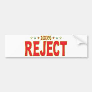 Reject Star Tag Bumper Sticker