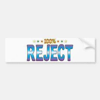 Reject Star Tag v2 Bumper Sticker