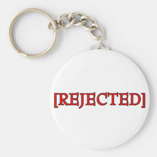 Rejected Basic Round Button Key Ring
