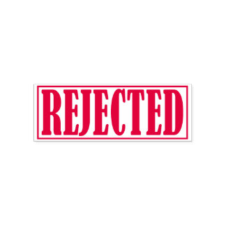 Rejected Declined Business Office Framed Simple Self-inking Stamp