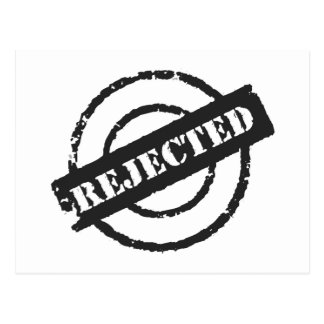 Rejected Postcard