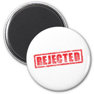 Rejected rubber stamp image 6 cm round magnet
