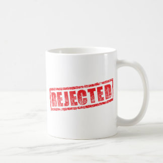 Rejected rubber stamp image coffee mug