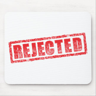 Rejected rubber stamp image mouse pad