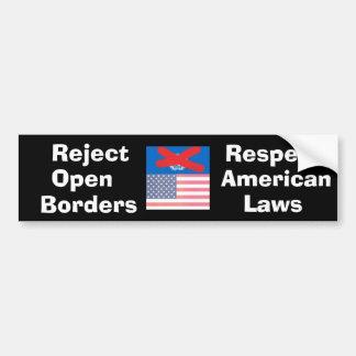 rejectglobalvillagementality, Reject , Open , B... Car Bumper Sticker