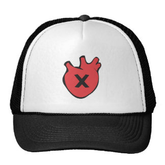 Rejection Heart Mesh Hat