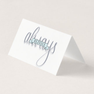 Rejoice Always Hand Lettered Greeting Cards