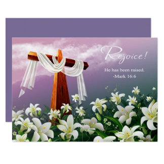 Rejoice. Customizable Easter Cards