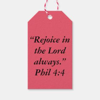 """""""Rejoice"""" Gift Tag"""